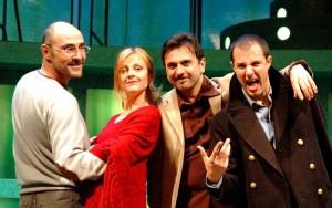 HARRY TI PRESENTO SALLY - Marina Massironi, Giampiero Ingrassia, il produttore Angelo Tumminelli e il regista Daniele Falleri