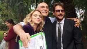 Con Antonia Liskova e Roberto Farnesi sul set della serie Tv SOLO PER AMORE 2 - DESTINI INCROCIATI (2016)
