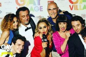 IL MARITO DI MIO FIGLIO - Cast e regista dopo lo spettacolo al GAY VILLAGE di Roma (Luglio 2016)