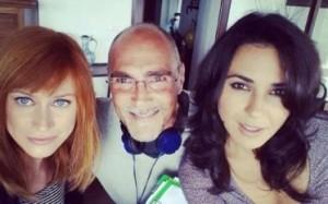LE TRE ROSE DI EVA 3 - Con Giorgia Wurth e Karin Proia sul set