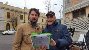 Con Roberto Farnesi sul set della serie Tv SOLO PER AMORE 2 - DESTINI INCROCIATI (2016)